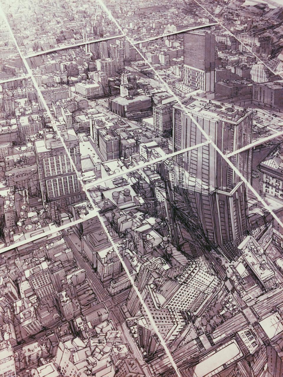 NY skyline Mural